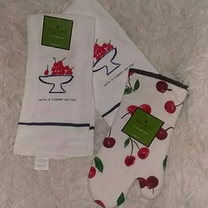NWT Lot 3 Piece Kate Spade Cherry On Top Kitchen